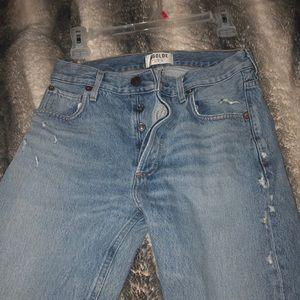 AGOLDE High rise straight leg jean
